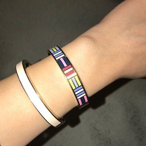 Kate spade enamel bangles and ring with dust bag